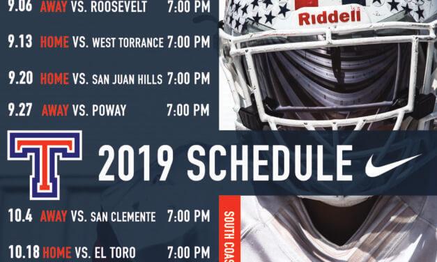 Tesoro Football Games 2019 Schedule